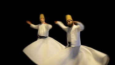 HMS2097130 Turkey, Istanbul, Sema, Sufi whirling dervishes
