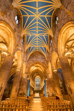 HMS2603770 United Kingdom, Scotland, Edinburgh, listed as World Heritage, Interior view of the St Giles' Cathedral dated 12th century
