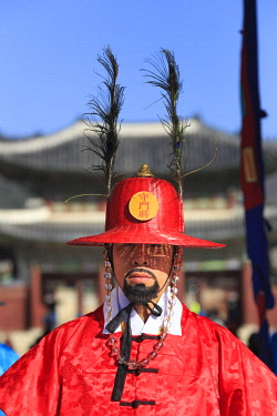 KR01353 South Korea, Seoul, South Korea, Seoul, Gyeonbokgung Palace, Gate Guard Changing Ceremony