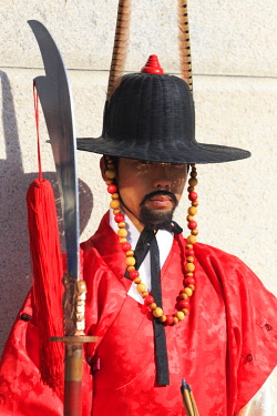 KR01357 South Korea, Seoul, South Korea, Seoul, Gyeonbokgung Palace, Gate Guard Changing Ceremony