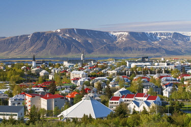 IC02198 Elevated view across Reykjavic, Iceleand