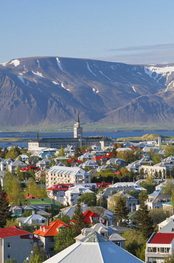 IC02199 Elevated view across Reykjavic, Iceleand