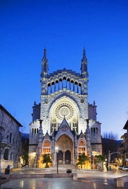 SPA7496 Europe, Spain, Balearic Islands, Mallorca, Soller, church of St Bartholomew (Sant Bartomeu)