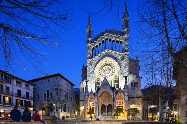 SPA7497 Europe, Spain, Balearic Islands, Mallorca, Soller, church of St Bartholomew (Sant Bartomeu)