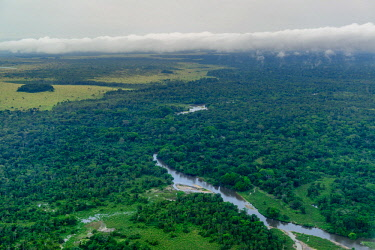AF12RHA0001 Aerial view. Odzala-Kokoua National Park. Cuvette-Ouest Region. Republic of the Congo