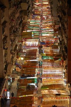 AS07DWA0077 Temple Street Night Market, Kowloon, Hong Kong, China