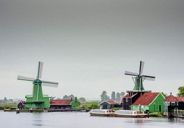 NLD0658AW Windmills in Zaanse Schans, Zaandam, North Holland, The Netherlands