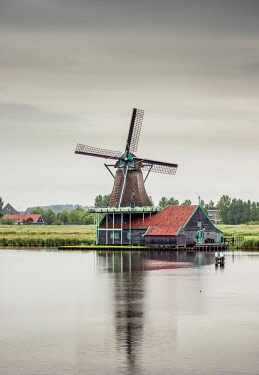 Windmill in Zaanse Schans, Zaandam, North Holland, The Netherlands