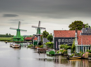 NLD0728AW Windmills in Zaanse Schans, Zaandam, North Holland, The Netherlands