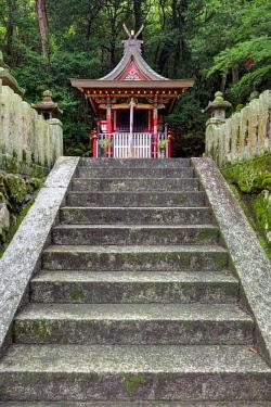 AS15BJY0166 Japan, Heguri-cho. Byo-Do-Ji Kasuga Shinto Shrine.