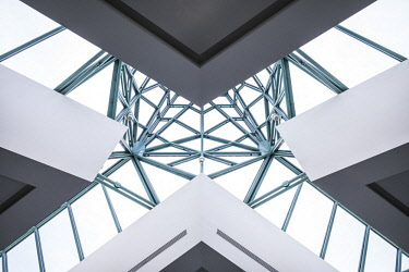 CA04176 Canada, Quebec, Quebec City, Musee national des Beaux-Arts du Quebec, MNBAQ, skylight, lobby