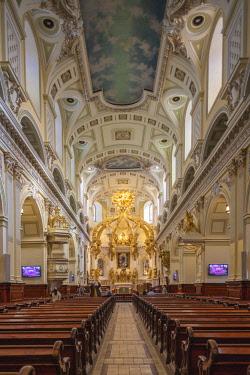 CA04181 Canada, Quebec, Quebec City, Basilique-Cathedrale-Notre Dame-de-Quebec, Cathoic basilica interior