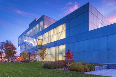 CA04277 Canada, Quebec, Quebec City, Musee National des Beaux-Arts du Quebec, MNBAQ, pavillon Pierre-Lassonde, 2016, exterior, dawn