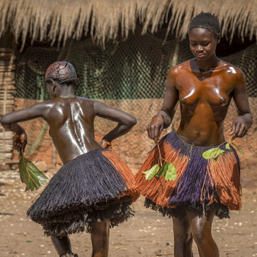 GUN0030AW Africa, Guinea Bissau. Bijagos Islands. The traditional initiation cult of girls