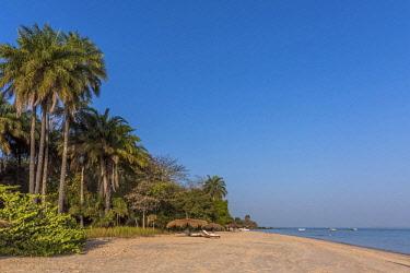 GUN0034AW Africa, Guinea Bissau. Bijagos Islands. The sandy beach of Rubane Island Ponta Anchaca Lodge
