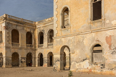 SEN1049AW Africa, Senegal, Dakar. The abandoned governors palace of the Island Gorée.