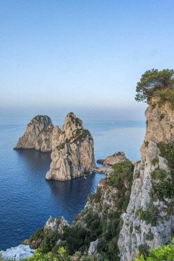 EU16RTI0584 Italy, Isle of Capri, Sea Stacks on the Coast