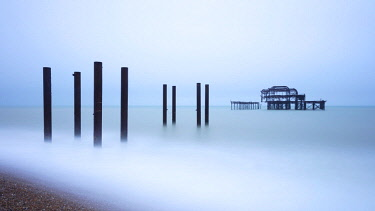 ENG15388AW England, East Sussex, Brighton, West Pier