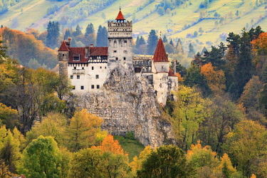 EU24EWI0559 Bran, Romania. Castle Bran, Exterior. Dracula's Castle.