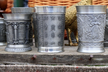EU24EWI0637 Romania. Pewter drinking cups.