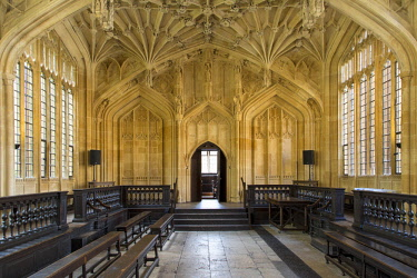 EU33BJN0531 Interior of the Divinity School, built 1488, part of the current Bodleian Libraries, Oxford, Oxfordshire, England