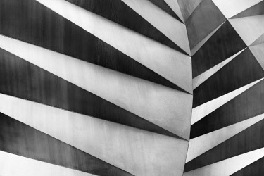 Abstract details of the Paternoster Vents, or Angel's Wings, a stainless steel sculpture by Thomas Heatherwick, London, England