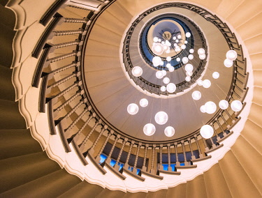 ENG15443AW A spiral staircase, London, England