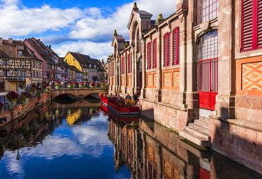 FRA10243AW The Little Venice, Colmar, Alsatian Wine Route, France