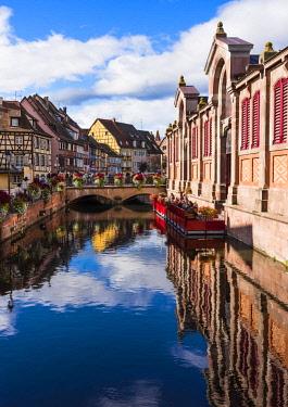FRA10244AW The Little Venice, Colmar, Alsatian Wine Route, France