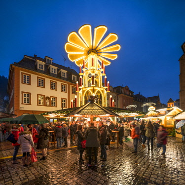 Christmas market at the market place in Heidelberg, Baden-Wurttemberg, Germany