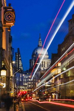 TPX63338 England, London, City of London, St.Pauls Cathedral and Fleet Street