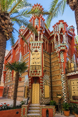 SPA7525AW Casa Vicens, designed by Antoni Gaudi and considered one of the first buildings of Art Nouveau, Barcelona, Catalonia, Spain