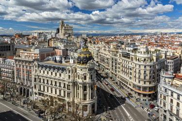 SPA7548AW City skyline, Madrid, Community of Madrid, Spain