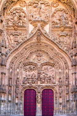 SPA7573AW Main facade of New Cathedral, Salamanca, Castile and Leon, Spain