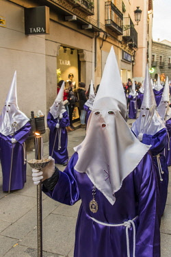 SPA7630AW Holy Week procession in Segovia, Castile and Leon, Spain