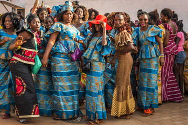 GUN0046AW Africa, Guinea Bissau. Bissau during the Carnival.