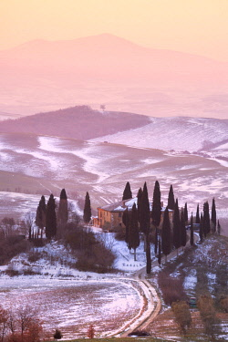CLKMR82669 Orccia valley in winter season, Tuscany, Siena province, Italy, Europe.