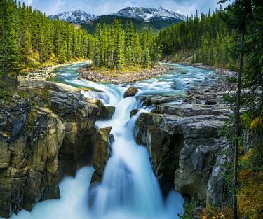 CAN3414AW Sunwapta Falls, Jasper National Park, Alberta, Canada