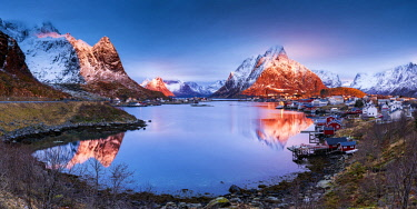 NOR1006AW Reine Reflections, Lofoten Islands, Norway
