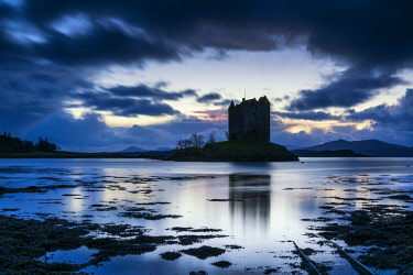 SCO35242AW Castle Stalker at Sunset, Highland Region, Scotland