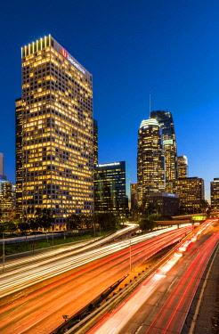 USA13191AW Downtown Skyline at Night, Los Angeles, California, USA