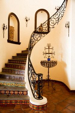 SA13JME0610 Mexico, Baja California Sur, Todos Santos. Hacienda Cerritos Boutique Hotel at Cerritos Beach. Interior.