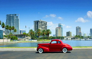 US11904 Florida, Saint Petersburg, Pinellas County, 1930's Ford Coupe, Classic Car, Tampa Bay