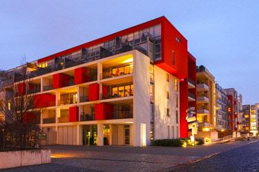 GER10769AW Quartis des Halles, Architecture in Düsseldorf Derendorf, Duesseldorf, North Rhine Westphalia, Germany
