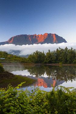 RE01084 Reunion island (French overseas department), Parc National de La Reunion (Reunion National Park), Cirque de Salazie, Piton des Neiges