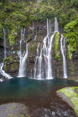 RE01107 Reunion island (French overseas department), Parc National de La Reunion (Reunion National Park) Waterfall