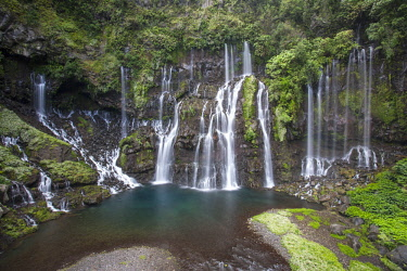 RE01108 Reunion island (French overseas department), Parc National de La Reunion (Reunion National Park) Waterfall