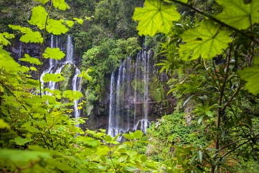 RE01110 Reunion island (French overseas department), Parc National de La Reunion (Reunion National Park) Waterfall