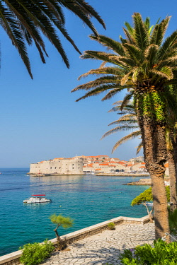 CRO1683AW Croatia, Dubrovnik, Old tonw from the hotel Excelsior