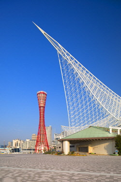 JAP1332AW Port Tower and Maritime Museum, Kobe, Kansai, Japan